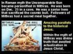 mithras myth 25 dec